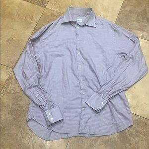 Armani purple and white men's dress shirt